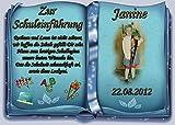 Tortenaufleger Fototorte Tortenbild Schulanfang Einschulung 1. Schultag DIN A4 SE16
