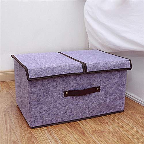 Hoge kwaliteit katoen en linnen opbergdoos dubbele hoes geschenk grote capaciteit eenvoudige afwerking doos diversen opbergdoos opbergdoos tool-paars