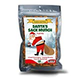 Santa's Sack Munch Spicy Trail Mix - Funny mooning Santa Claus design - Edible gifts for Men - Spicy mix, Made in the USA