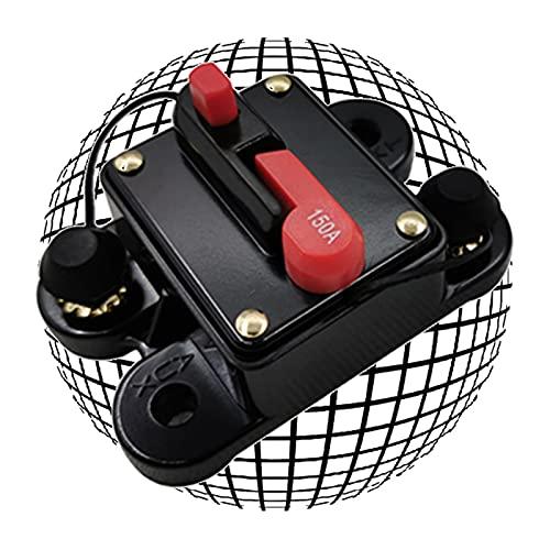 ERTLKP Disyuntor de reinicio de fusibles DC12-24V 40Amp -300Amp impermeable interruptor de audio de coche con reinicio manual para coche, barco, bicicleta, audio estéreo, fusible automático (150A)