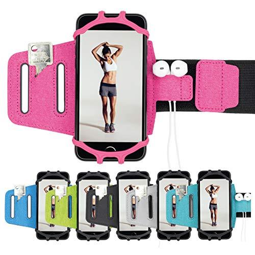 J.A.N-GreenLife Multifunktionales Sportarmband für Smartphones – kompatibel mit nahezu Allen Handys (wie z. B. iPhone, Samsung, Huawei, usw), ideal für Ober- und Unterarm, für Joggen, Fitness, Sport