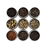 Golden Moon Tea LOOSE LEAF TEA SAMPLER - 9 Variety Pack - Organic Tea Sampler Gift Set - Black Tea,...