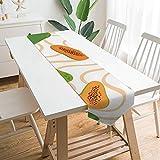 Camino de mesa de 200,7 x 33 cm, planta de frutas de Pawpaw comida vegetariana, decoración de mesa para boda, diseño de mantel, decoraciones al aire libre picnics mesa de comedor