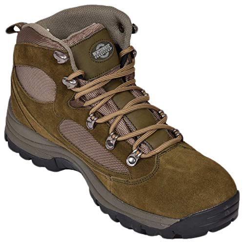 Mens Suede Northwest Territory Steel Toe Capped Waterproof Safety Work Boots Khaki UK 7