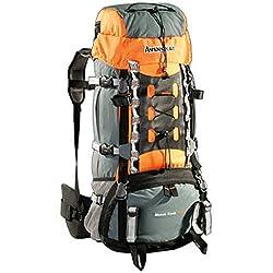 AspenSport Unisex Backpack Mount Cook, gray / orange, 75 x 35 x 30 cm, 65 liters, AB06Y04