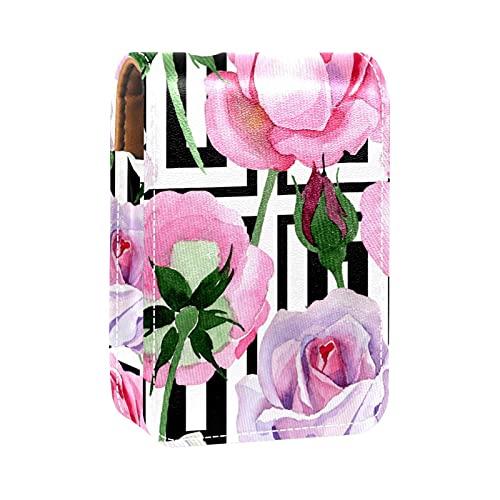 Boîte de rangement de rouge à lèvres Boîte d'emballage,rose tendre rose
