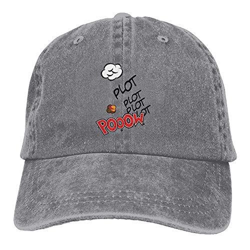 Voxpkrs Sombrero para Correr Reloj Mujer Hombre Algodón Ajustable Gorra de béisbol Lavada Sombrero Q8S3S998