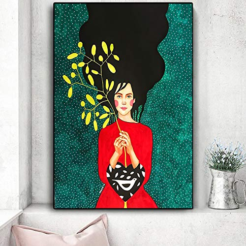 sanzangtang Oil Painting Artwork Fashion Figure Beauty Woman pictures wall art decor homefor living room posters,30x45cm,Frameless painting
