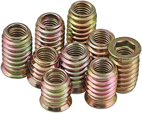 LWCHJ 5 10Pcs M4 M6 M8 M10 Steel Insert Seasonal Wrap Introduction N Industry No. 1 for Thread Carbon Wood
