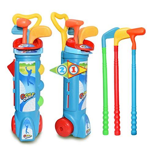 Kohyum Kids Toy Golf Set Plastik Golfschläger Bälle Caddy Garden Sommerspiel Kindergarten Minigolfplatz
