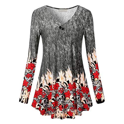 Bluse Damen Shirt Damen Sexy V-Ausschnitt Elastischer Stoff Lässig Mode Schlank...