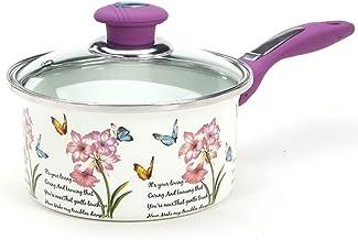 XinQing Milk pan Enamel Milk Pot Mini Soup Pot Baby Baby Food Supplement Pot Induction Cooker Universal (Color : Purple)