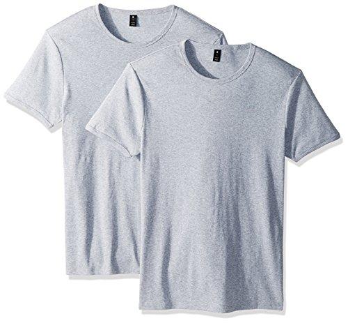 G-STAR RAW Base R T S/s 2-Pack T-Shirt, Grigio (Grey Htr 906), Small Uomo