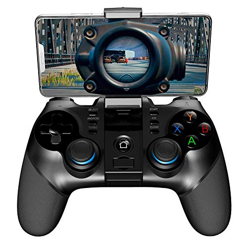 THDFV Agarre de Juego inalámbrico para acción/Disparo, Plug and Play, Game Controller para Android/iOS/Win, Gamepad con Bluetooth + 2.4G Receptor inalámbrico, Recargable