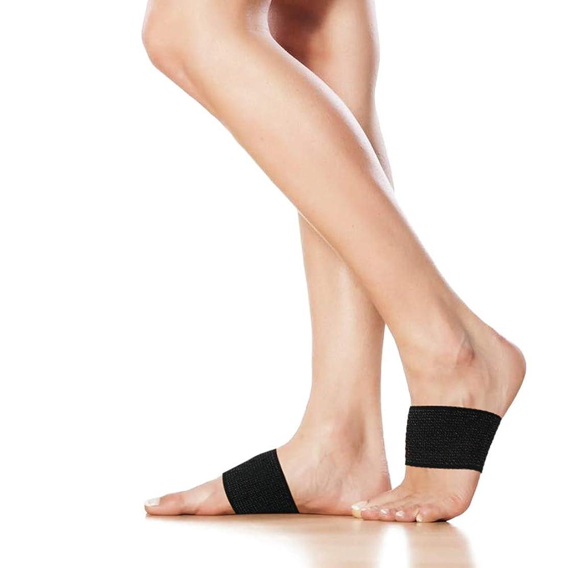 三番またね法医学足底筋膜炎倒れたアーチのためのクッション付き圧縮アーチサポート,M