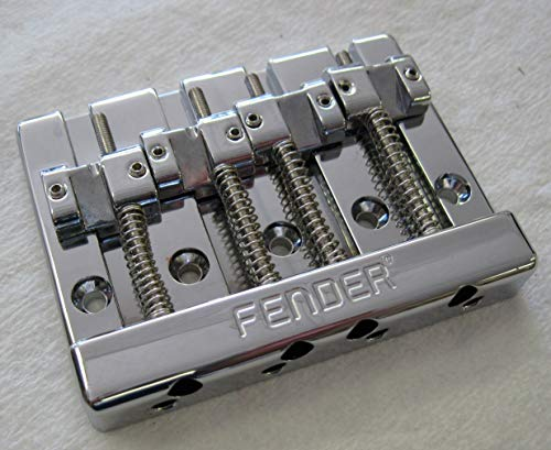 Fender HiMass 4-String Bass Bridge Assembly with Zinc Saddles - Chrome