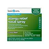 Amazon Basic Care Allergy Relief Nasal Spray, Fluticasone Propionate (Glucocorticoid), 50 mcg Per Spray, 1.62 Fluid