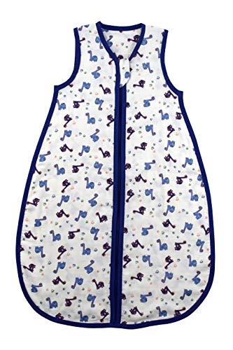 Schlummersack - Saco de dormir para bebé (bambú, sin forro, 0,2 tog, disponible en diferentes tamaños y diseños) Dinosaurios Talla:70 cm