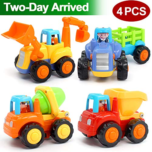 ORWINE Inertia Toy Early Educational Toddler Baby Toy Friction Powered Cars Push...