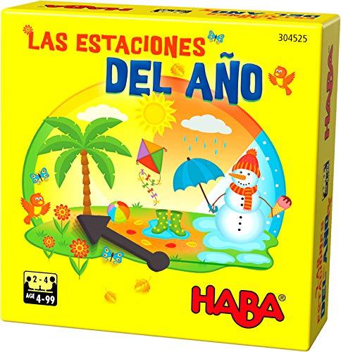 HABA- Juego de Mesa, Las Estaciones del Año, Multicolor (Habermass...