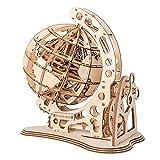 wiFndTu 3D Madera Montaje Juguete DIY Globo Puzzle Montaje Modelo Kits Madera Juegos Set de Construcción Cumpleaños Navidad Rompecabezas Regalo para Niños Adolescentes Adultos