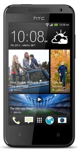 Desire 300 HTC Desire 300 Smartphone (10,9 cm (4,3 Zoll) Touchscreen, Dual-Core, 1GHz, 5 Megapixel Kamera, 512MB RAM, 4GB interner Speicher, Micro-SIM, Android) schwarz [T-Mobile-Branding]