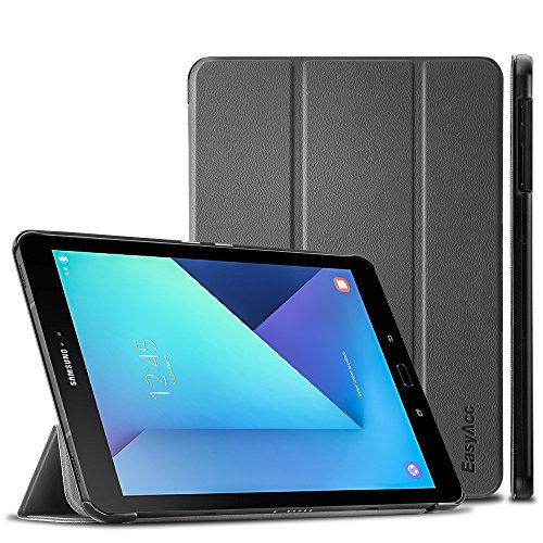 EasyAcc Hülle für Samsung Galaxy Tab S3 T820/ T825, Hülle Cover mit Standfunktion/Automatische Funktion PU Leder Hüllen Kompatibel für Samsung Galaxy Tab S3 (9,68 Zoll) Smart Cover (Grau)