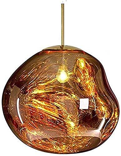 Milu deer Lampadario Creativo Lava Lampada a Vernice Lava a Tre Colori Lampada Moderna Riparazione Camera da Letto lampadario Camino (Color : Gold, Size : 15cm)