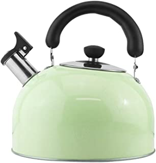 Stovetop Catering Kettle Universal Stainless Steel Kettle Automatic Whistle Large Capacity Stovetop Kettle Whistling Teapot Coffee Pot Portable ZHAOSHUNLI (Capacity : 5l, Color : Green)