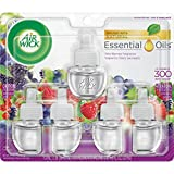 Air Wick plug in Scented Oil Refills, Wild Berries, (5x0.67oz), Essential Oils, Air Freshener, Holiday scent, Holiday spray, Packaging May Vary