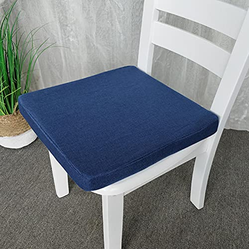 jHuanic Cojín de asiento de silla para el hogar, jardín, 45 x 45 cm, 50 x 50 cm, cojines antideslizantes para asientos de interior y exterior (50 x 50 x 7 cm), color azul