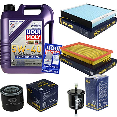 QR-Parts Set 85477019 SA 1182 SM 166 ST 308/1 SB 265 3864 5L Liqui Moly High Tech 5W-40 + paquete de filtros SCT-Germany 11234904