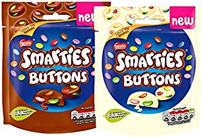 Smarties Buttons Milk & White Chocolate Limited Edition Bags