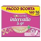 LINES INTERVALLO Ripiegato, PACCO SCORTA, Confezione da 176 Proteggislip