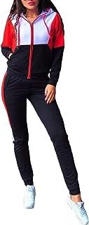 Howme-Women Leisure Zip Up Hood Splicing Slim Fitted Tracksuit