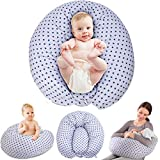 Chilling Home Multifunktionales Schwangerschaftskissen Stillkissen mit Kleines Stillkissen für Baby Mutter, Ganzkörper Seitenschläferkissen Mutterschaftskissen mit Waschbarer Bezug aus Baumwolle(grau)