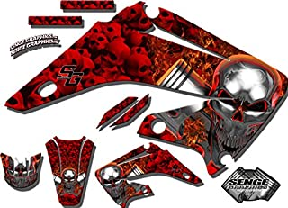 Senge Graphics Kit Compatible with Honda 2013-2016 CRF 450R Flaming Gearhead Red Graphics kit