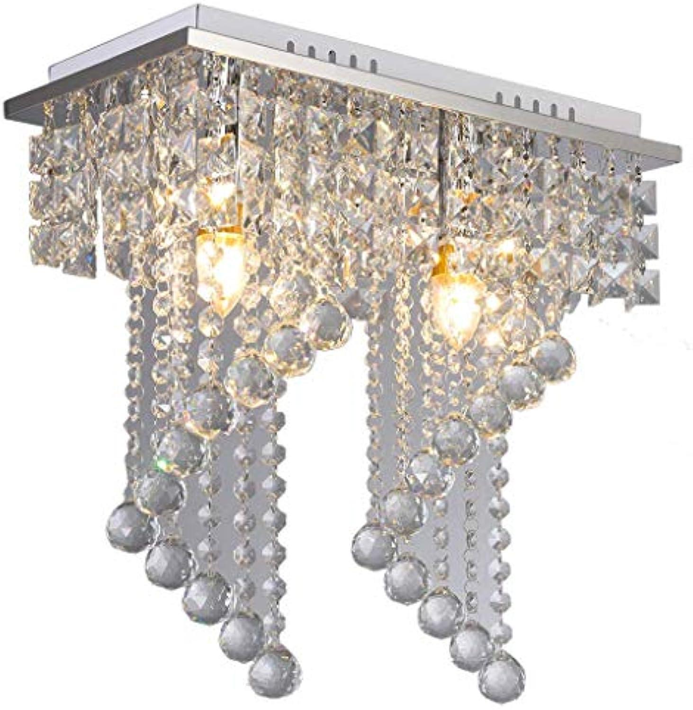 ADDG Kristallleuchter Pendeant Deckenleuchte LED Moderne Lampe Home Decoration 2 Licht E12