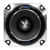 1' Car Audio Speaker Tweeter - 300 Watt High Power 1 Inch Super Titanium Tweeter System with Die Cast Aluminum Frame, 2kHz - 20 kHz Frequency, 104 dB, 4-8 Ohm, Heavy Duty 30 oz Magnet - Pyle PDBT28, Black, 5in. x 5in. x 4in.