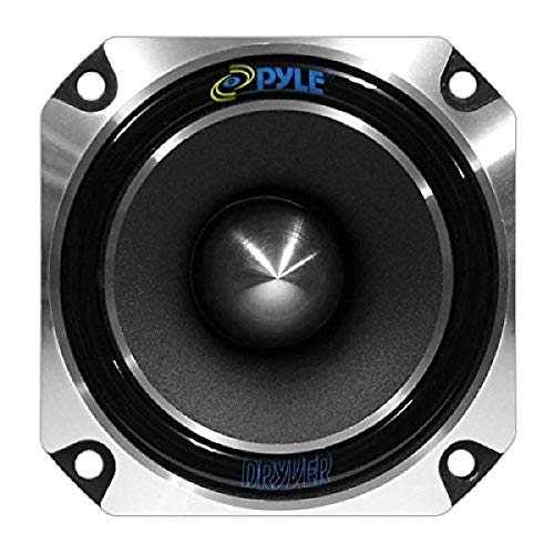 "1"" Car Audio Speaker Tweeter - 300 Watt High Power 1 Inch Super Titanium Tweeter System with Die Cast Aluminum Frame, 2kHz - 20 kHz Frequency, 104 dB, 4-8 Ohm, Heavy Duty 30 oz Magnet - Pyle PDBT28, Black, 5in. x 5in. x 4in."