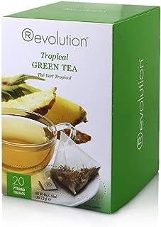 Revolution Tea - Tropical Green Tea | Premium Full Leaf Infuser Teabags - Island Energy Boost (20 Bags)