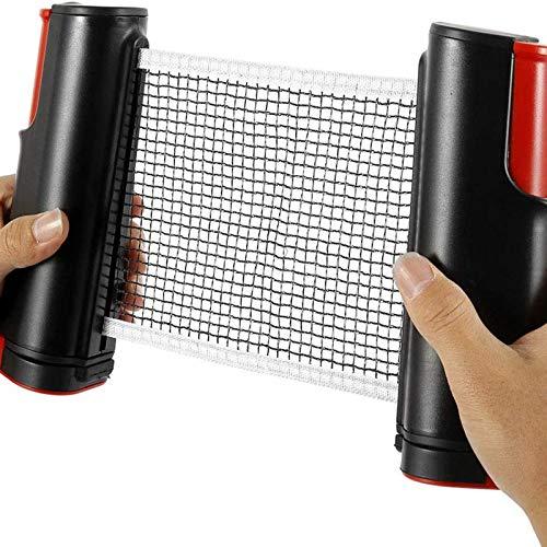 TheStriven Ausziehbares Tischtennisnetz Set Tragbarer Tischtennisnetz Tragbare Teleskop Tischtennis Netz Justierbarer Einziehbares Netz Ping Pong Ersatznetz Net für Den Innen- und Außenbereich