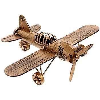 GARNECK Airplane Model Vintage Retro Iron Decorative Aircraft Plane Pendant Toys for Photo Props Desktop