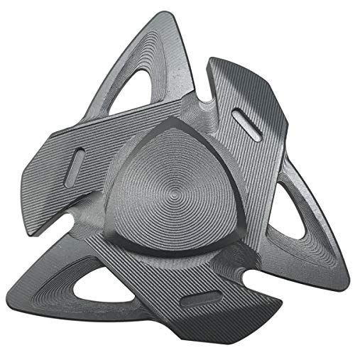FREELOVE Russia Z Triangle Design Fidget Spinner Toy, Aluminum Alloy, German Precise CNC, Stainless Steel R188 Bearings, 6 Tritium Trachea (Aluminum Alloy Gun Color)