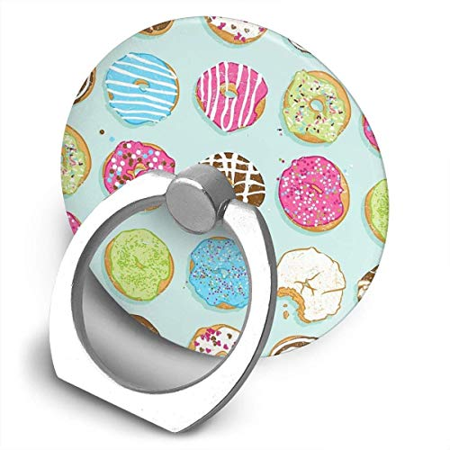 ARRISLIFE Sweet Donuts Soporte para teléfono,Round-Shaped Soporte para Anillo de teléfono Celular,360 Degrees Rotating Soporte de Metal