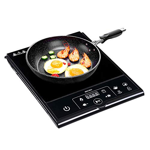 Yescom 1800W Electric Induction Cooktop Portable Countertop Burner Digital Touch Control Safety Lock Hot Plate