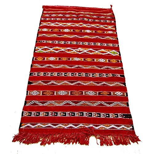 Etnico Arredo Alfombra Kilim Berbero Marruecos African original Lana TN 2207190908