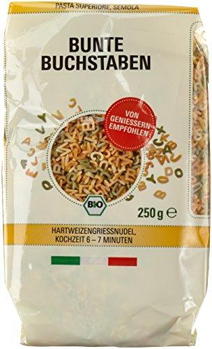 Byodo Pasta  - Bunte Buchstaben, 6er Pack (6 x 250 g Packung) - Bio