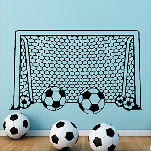 Junge Fußball Fußball Tor Net Vinyl Aufkleber Für Kinderzimmer Dekoration Sport Schlafzimmer Dekor Kindergarten Kunst Poster 57 * 89 Cm
