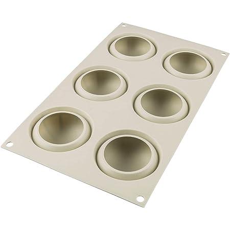 silikomart 26.234.13.0065 Moule Mini Goccia, Silicone, Gris, 6,8 cm